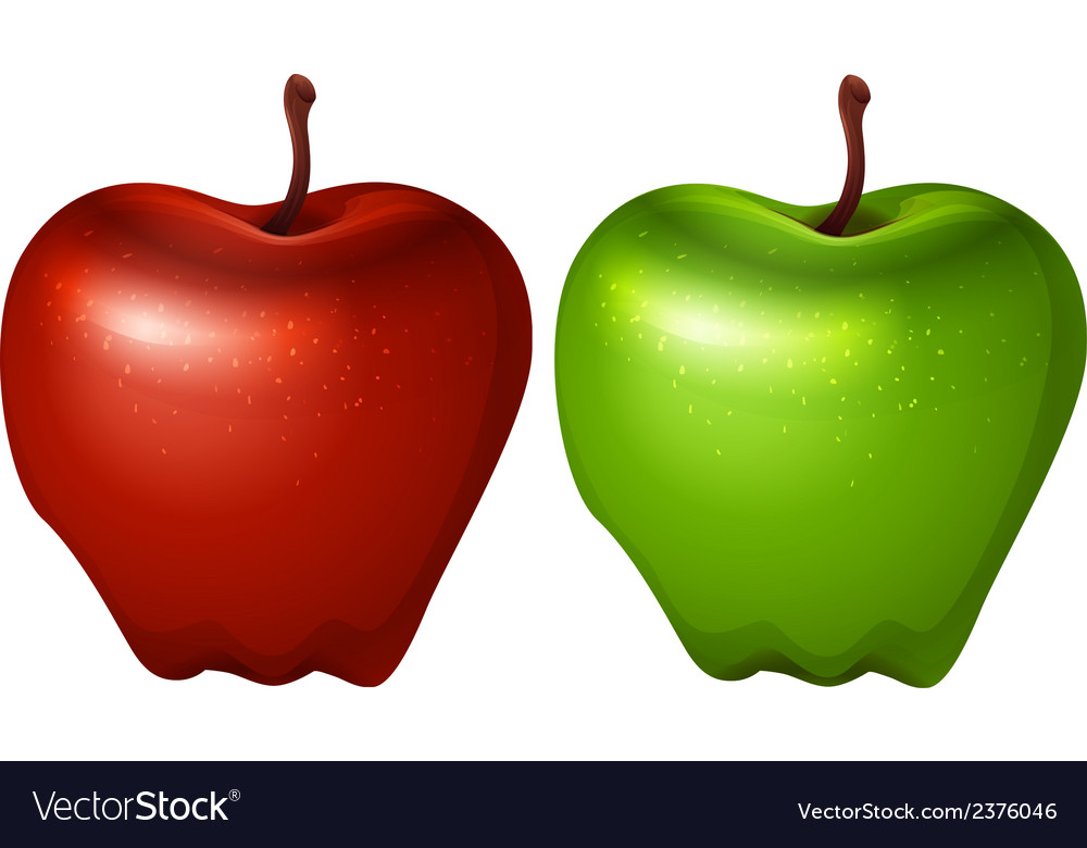 A green and a red apple vector | Price: 1 Credit (USD $1)