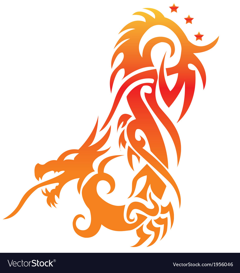 Asian dragon fully editable vector | Price: 1 Credit (USD $1)