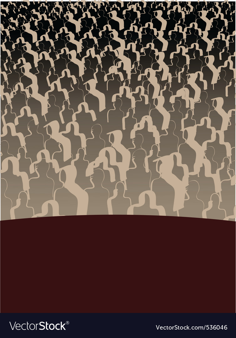 Audience background vector