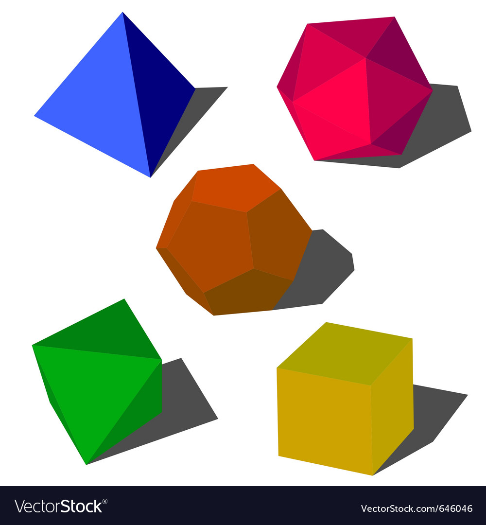 Colorfull 3d geometric shapes vector | Price: 1 Credit (USD $1)