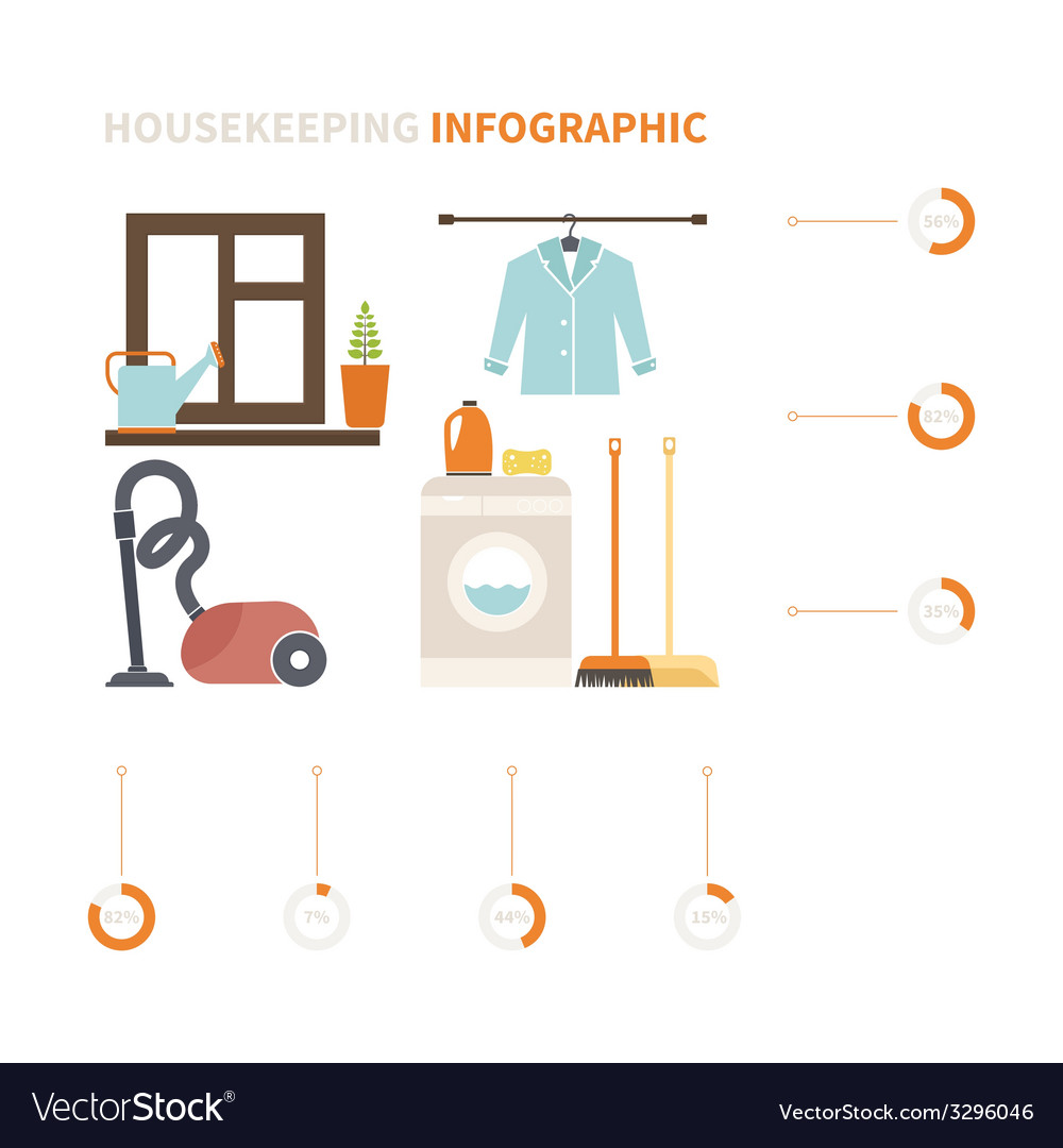 Housekeeping infographic vector | Price: 1 Credit (USD $1)