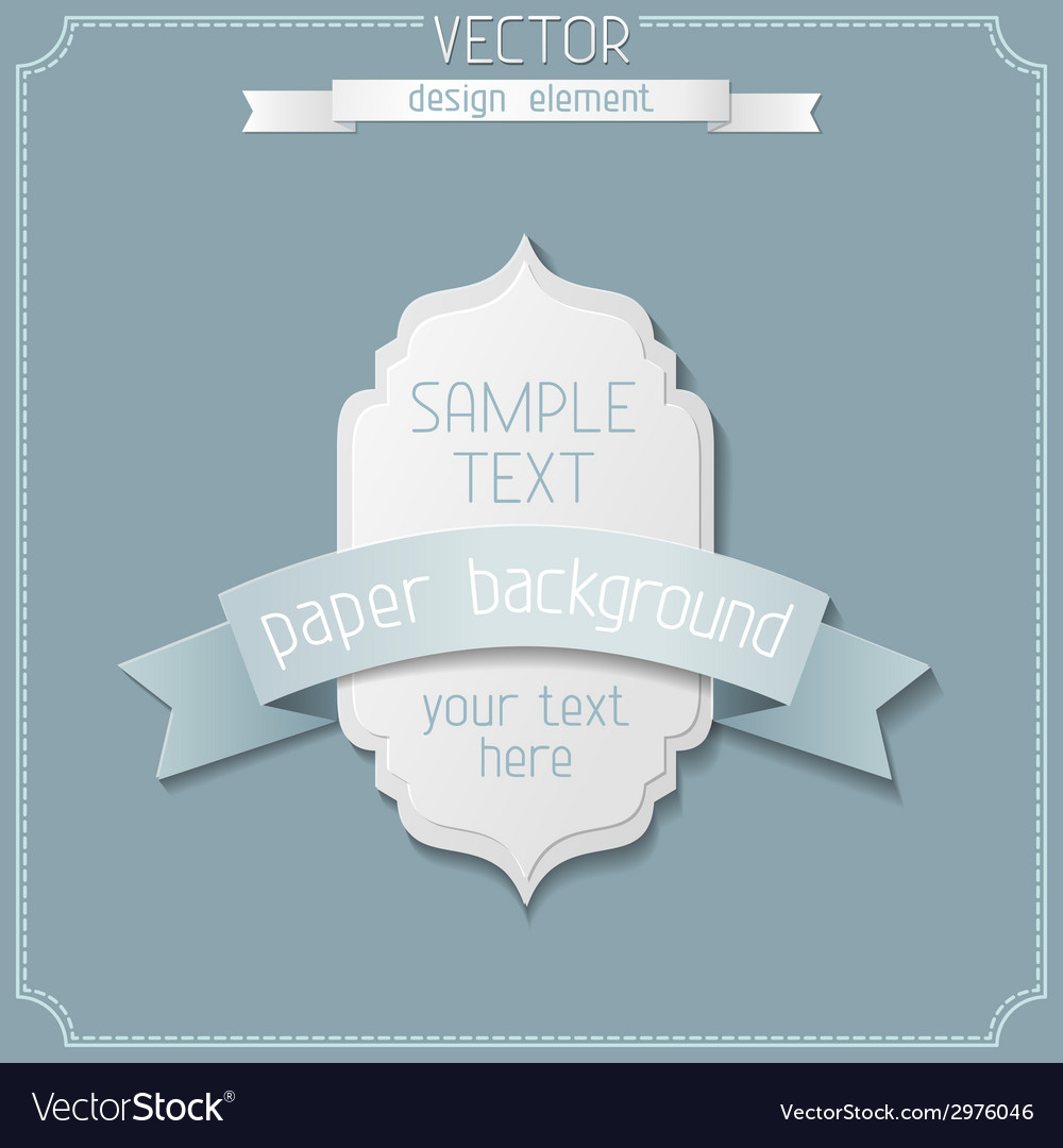 Paper label design vector | Price: 1 Credit (USD $1)