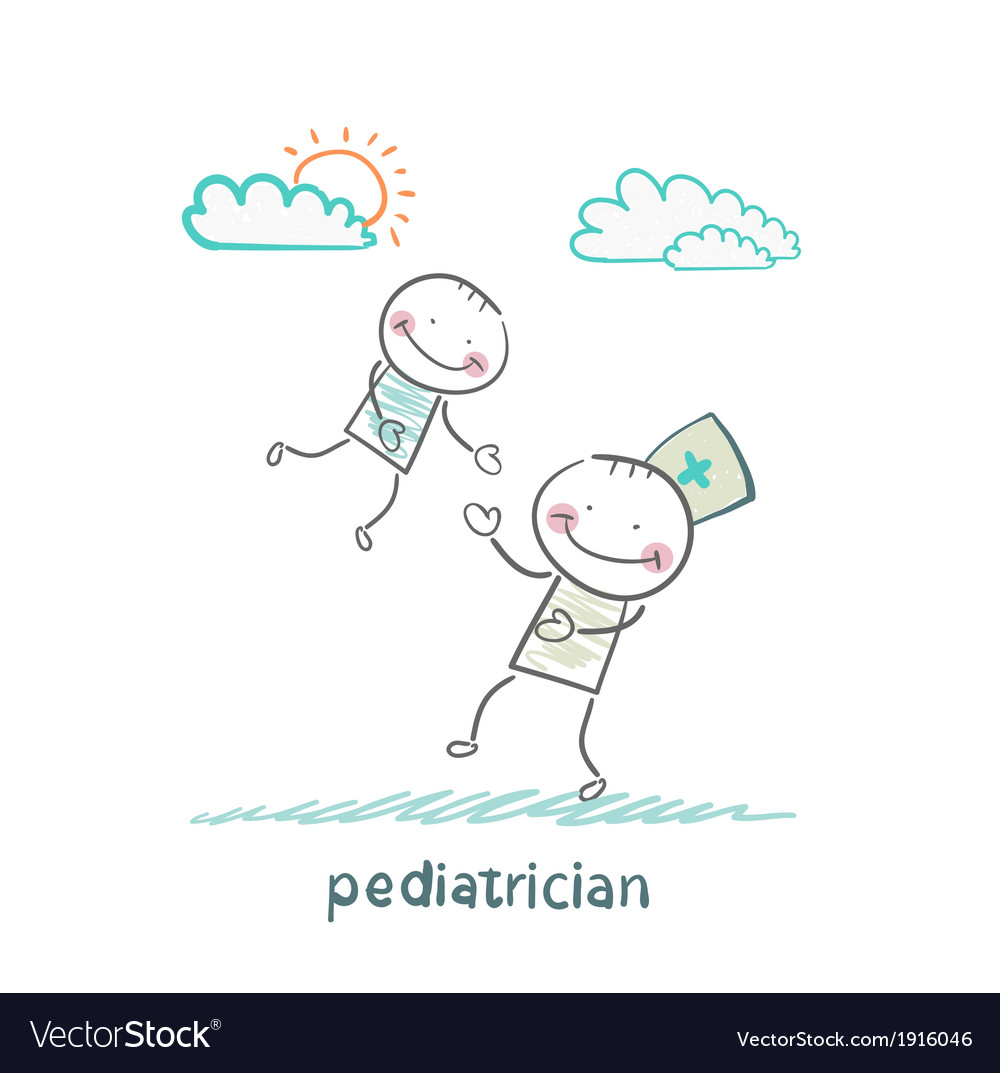 Pediatrician playing with child vector | Price: 1 Credit (USD $1)