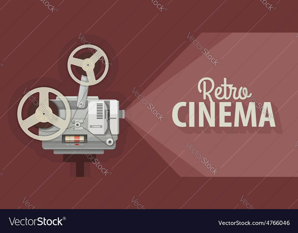 Retro movie projector for old vector | Price: 1 Credit (USD $1)