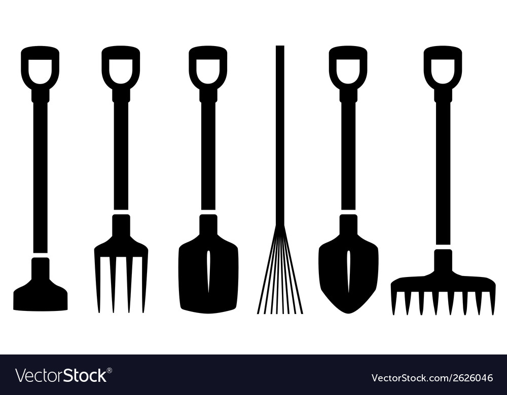 Set isolated garden tools vector | Price: 1 Credit (USD $1)