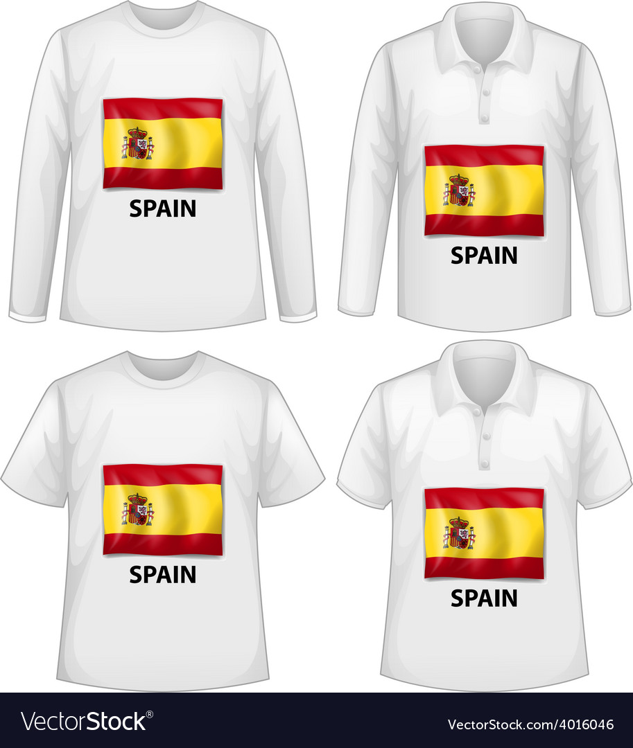 Spain shirts vector   Price: 1 Credit (USD $1)