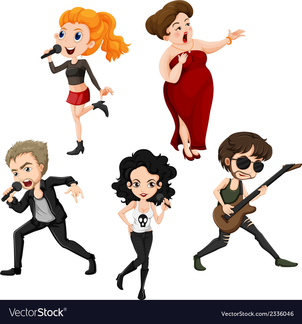 Talented singers vector | Price: 3 Credit (USD $3)