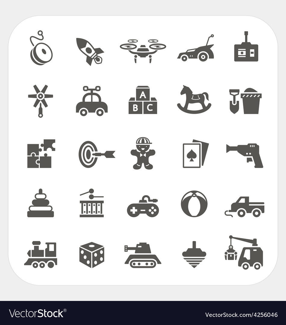 Toy icons set vector | Price: 1 Credit (USD $1)
