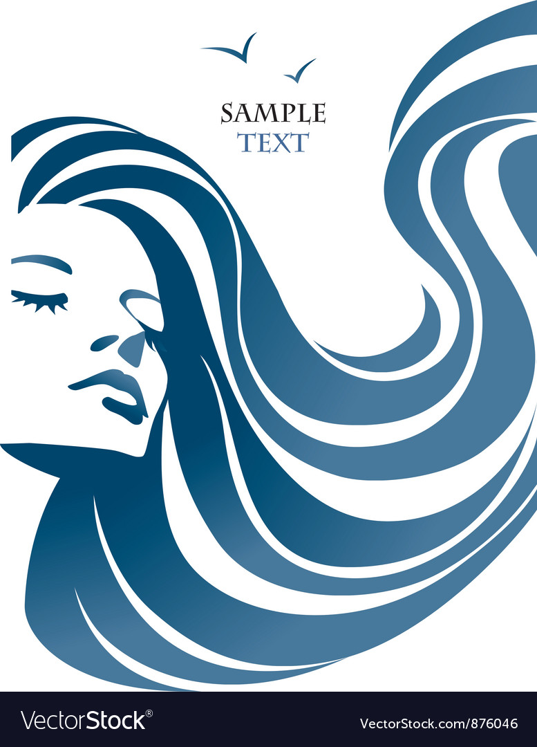 Woman and sea vector | Price: 1 Credit (USD $1)