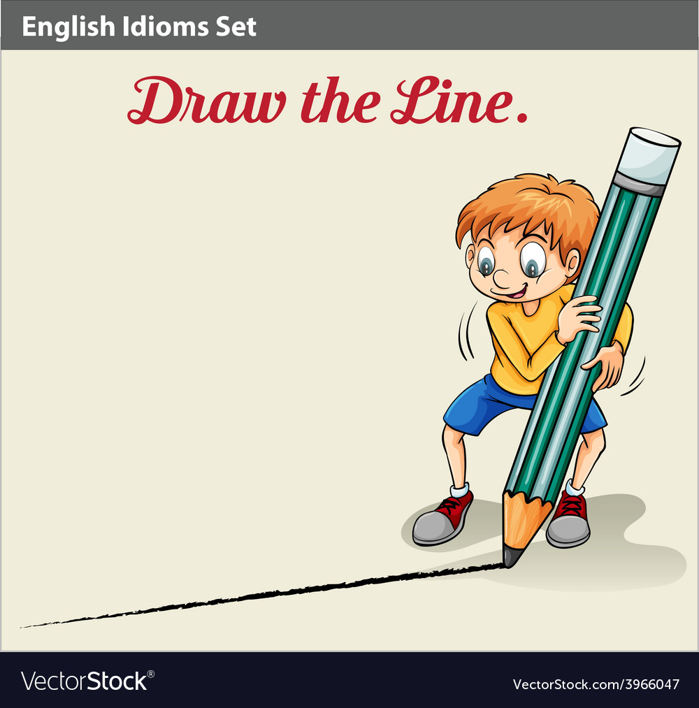 A boy drawing a line vector | Price: 1 Credit (USD $1)