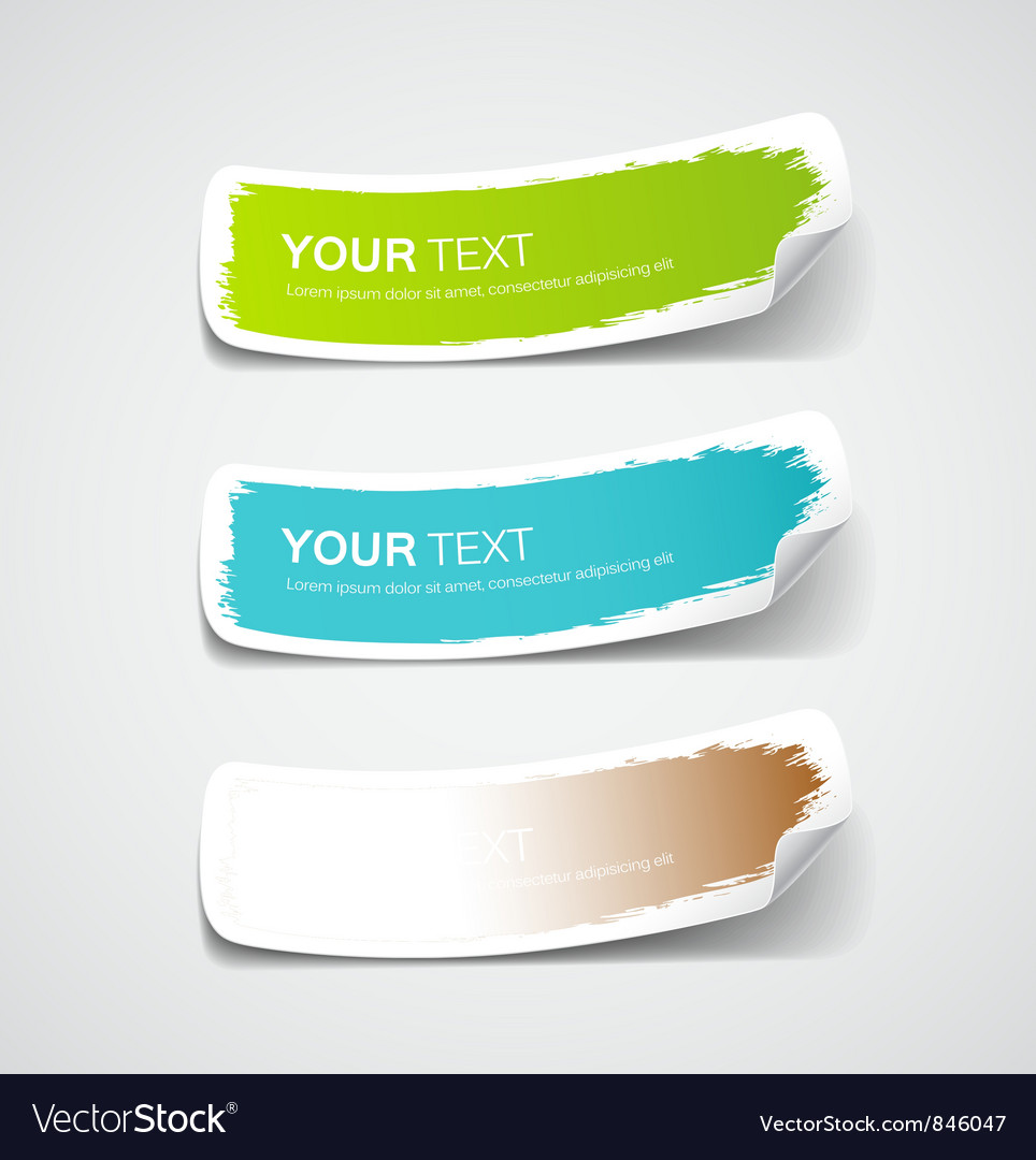 Colorful label paper brush stroke vector | Price: 1 Credit (USD $1)