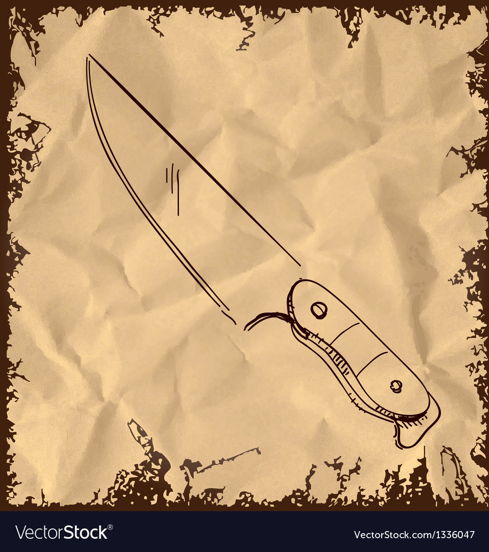 Knife icon on vintage background vector | Price: 1 Credit (USD $1)