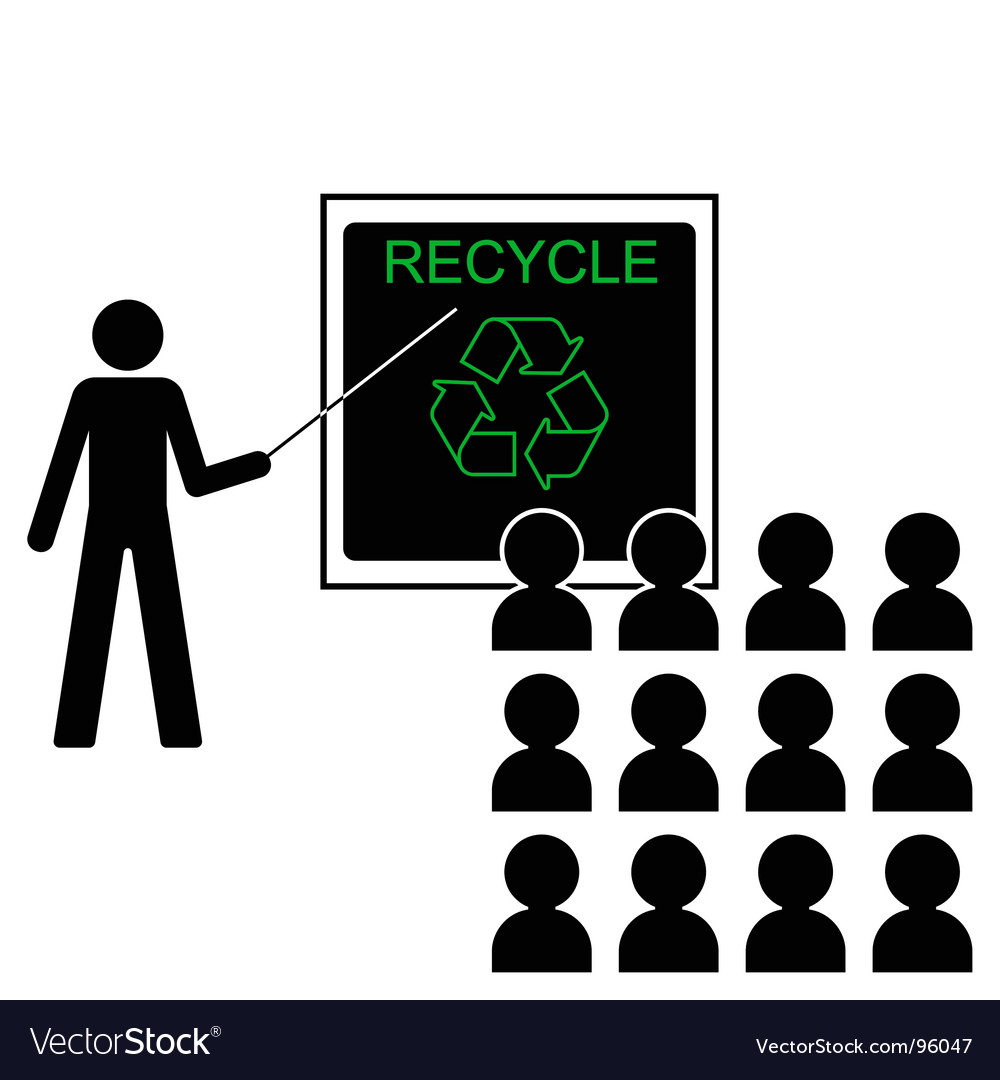 Recycling lecture vector | Price: 1 Credit (USD $1)