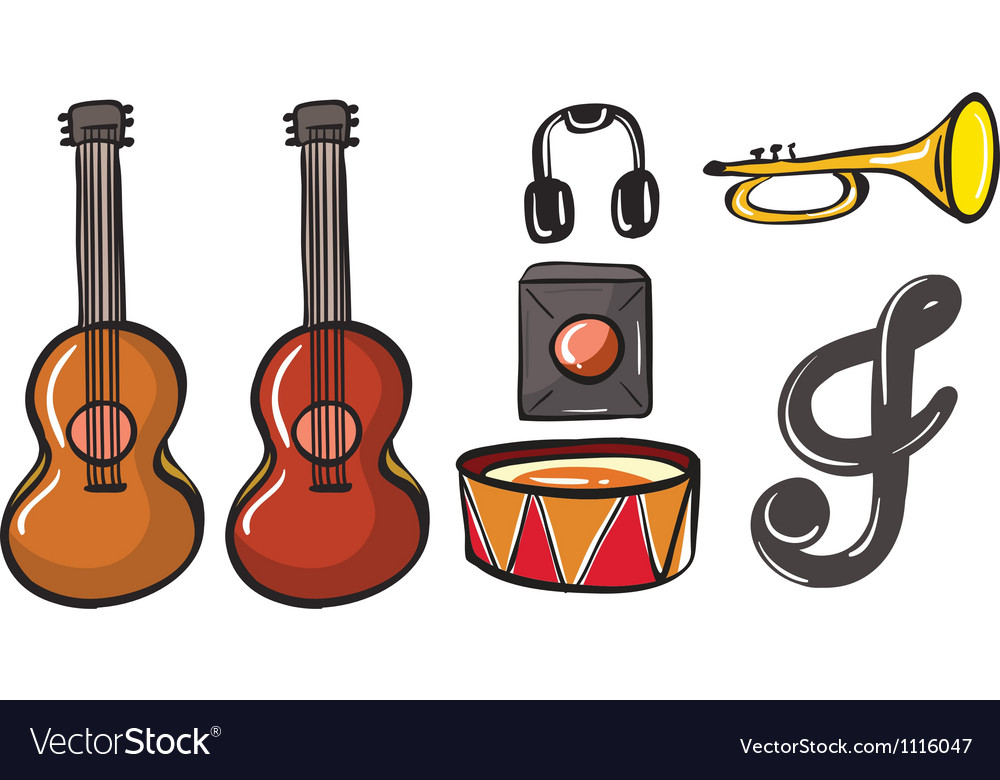 Various musical instruments vector | Price: 1 Credit (USD $1)