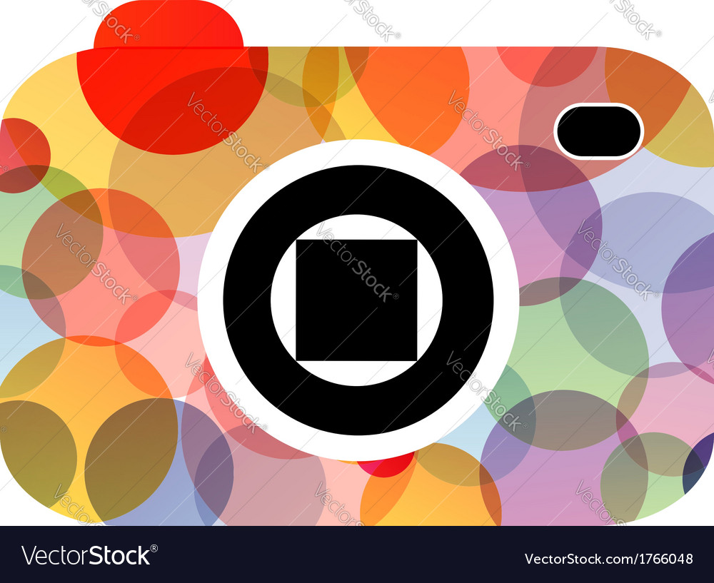 Abstract digital camera logo vector | Price: 1 Credit (USD $1)