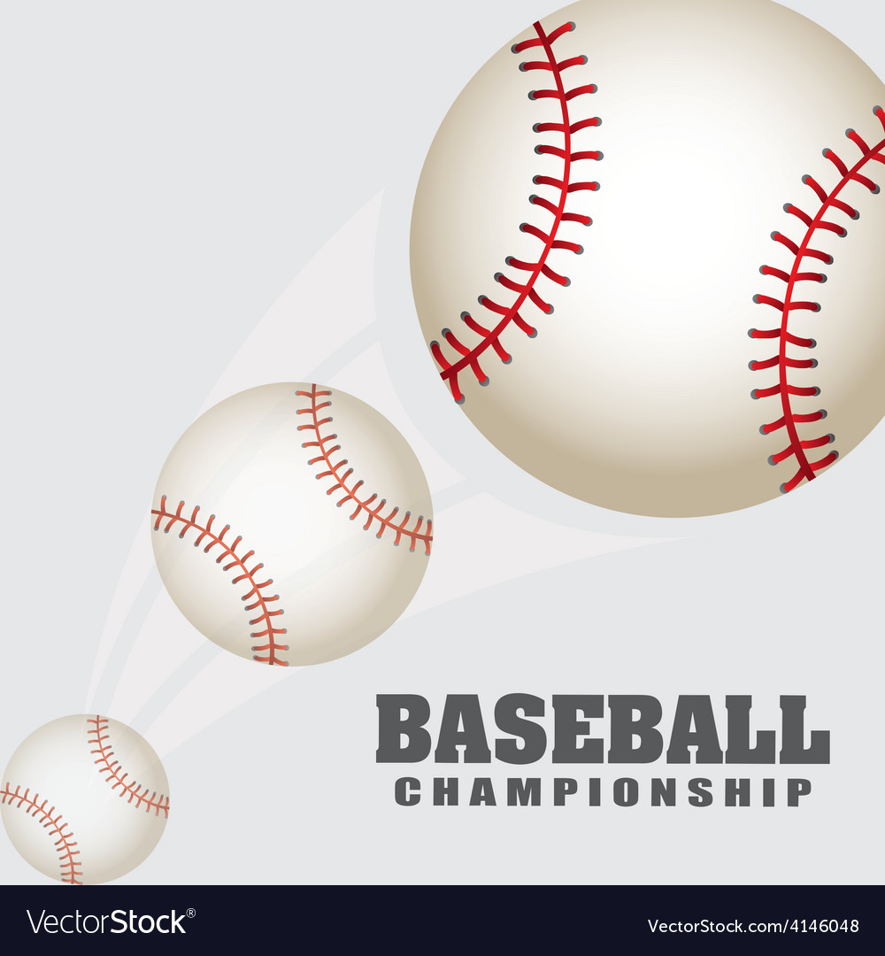 Baseball sport vector | Price: 1 Credit (USD $1)