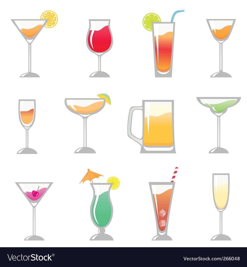 Birthday party drink vector | Price: 1 Credit (USD $1)
