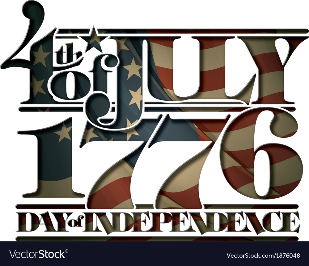 Forth of july 1776 day of independence cut out vector | Price: 1 Credit (USD $1)