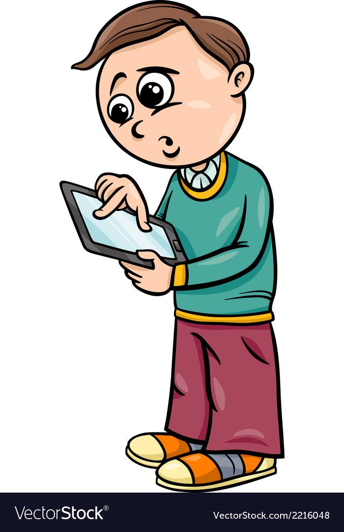 Grade school boy cartoon vector | Price: 1 Credit (USD $1)