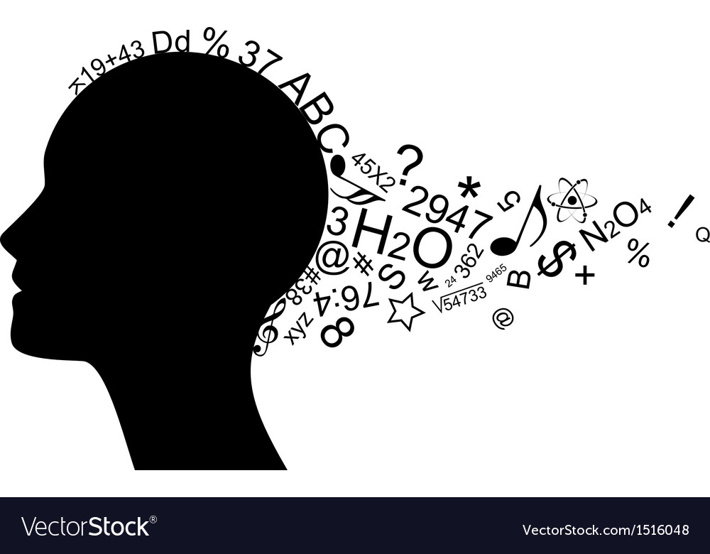 Head with information vector | Price: 1 Credit (USD $1)