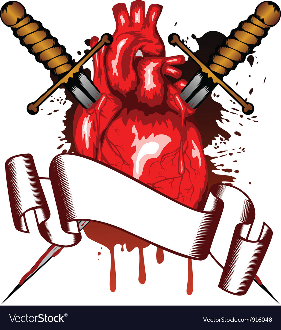 Heart and daggers vector | Price: 1 Credit (USD $1)