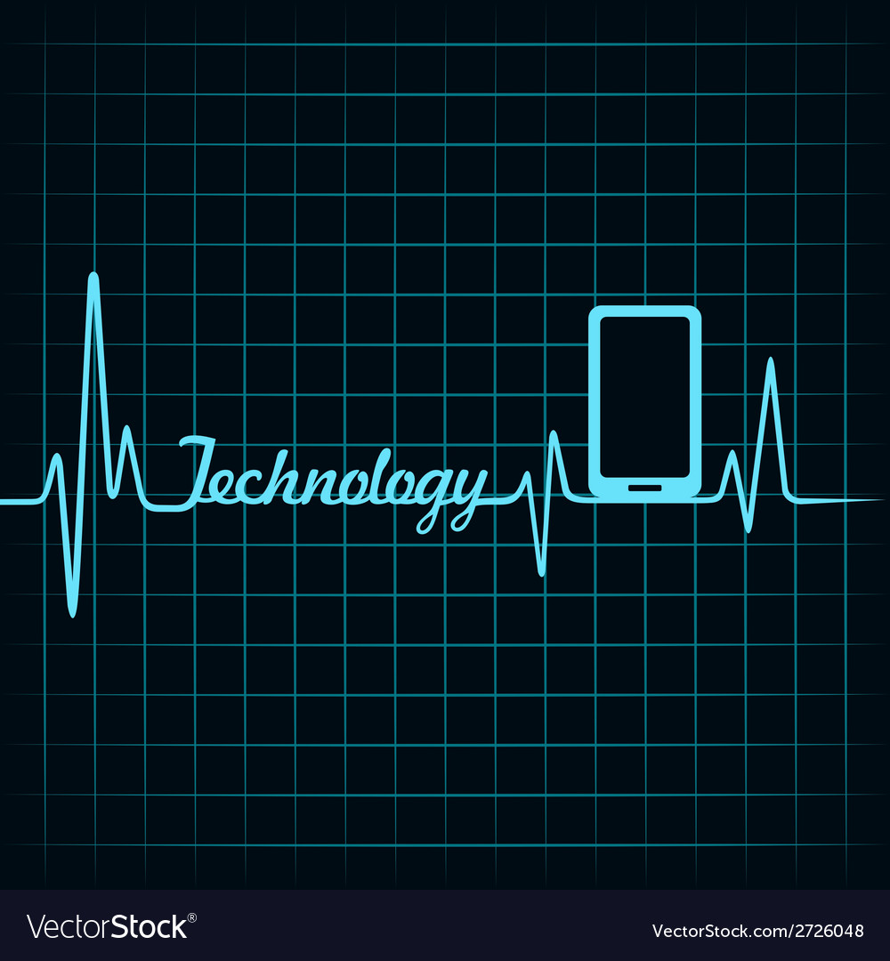 Medical technology concept -heartbeat smartphone i vector | Price: 1 Credit (USD $1)