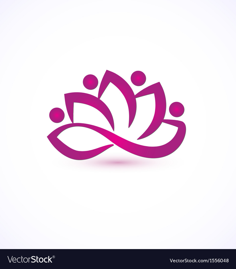 Purple lotus flower logo vector | Price: 1 Credit (USD $1)