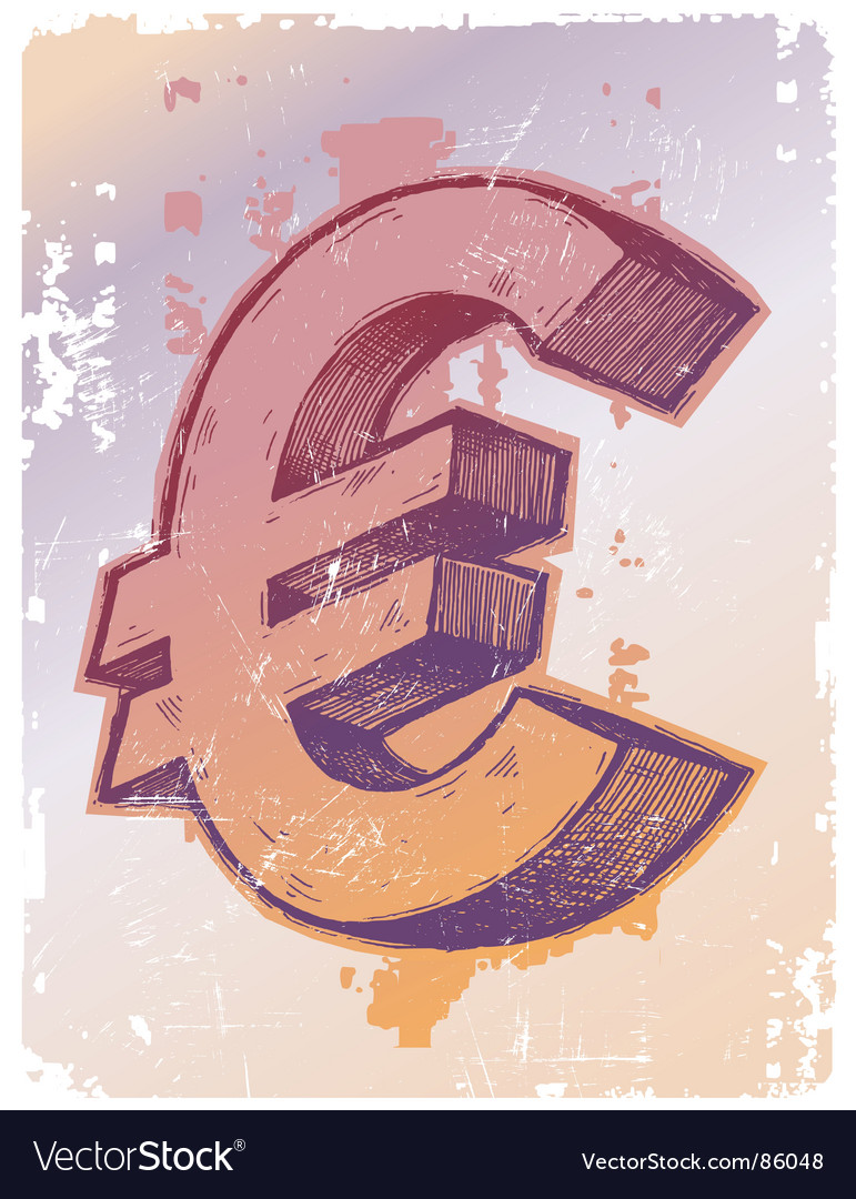 Sign of euro vector | Price: 1 Credit (USD $1)
