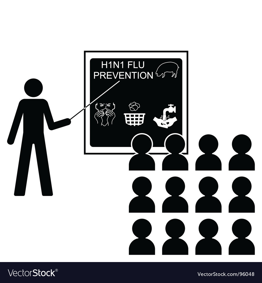 Swine flu lecture vector | Price: 1 Credit (USD $1)