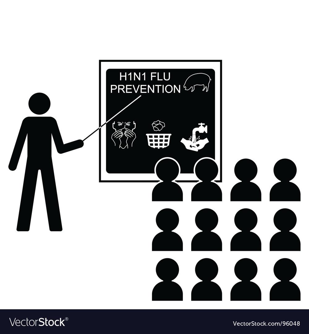 Swine flu lecture vector | Price: 1 Credit (USD $1)