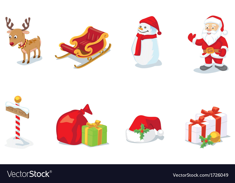 Christmas props vector | Price: 1 Credit (USD $1)