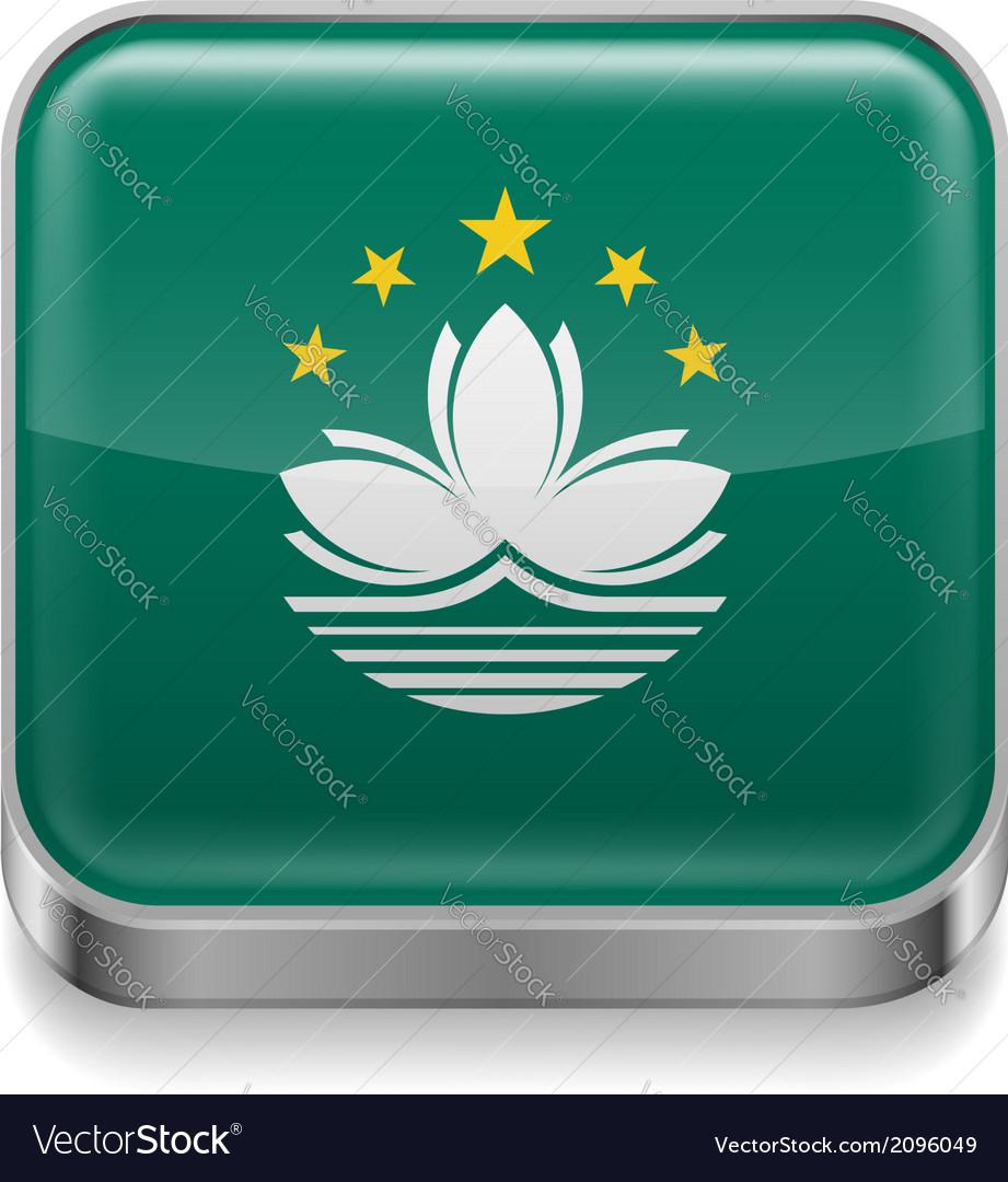 Metal icon of macau vector | Price: 1 Credit (USD $1)
