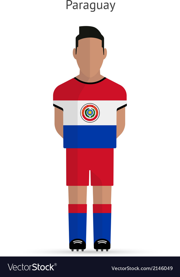 Paraguay football player soccer uniform vector | Price: 1 Credit (USD $1)