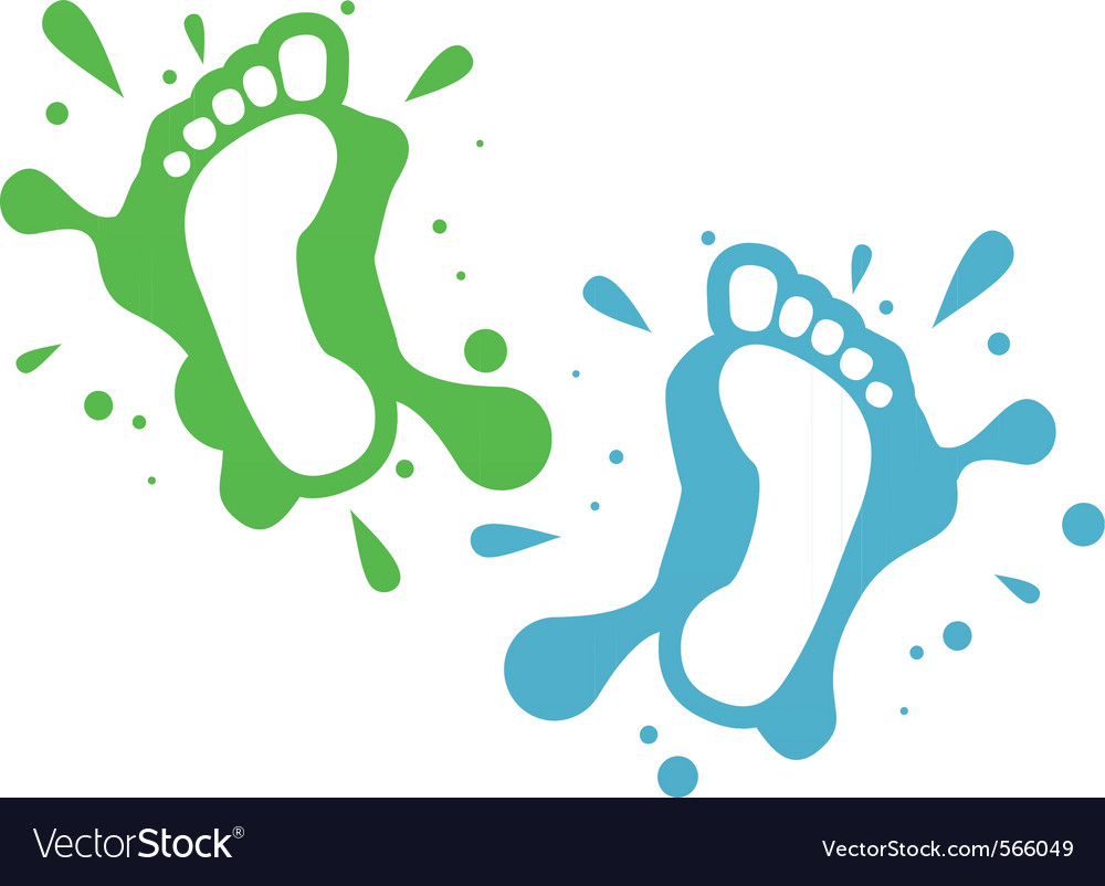 Splatter steps vector | Price: 1 Credit (USD $1)