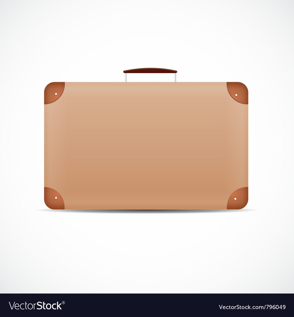 Vintage brown suitcase vector | Price: 1 Credit (USD $1)