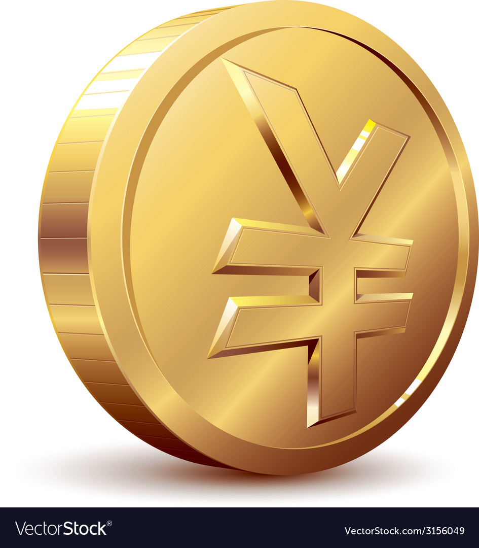 Yen coin vector | Price: 1 Credit (USD $1)