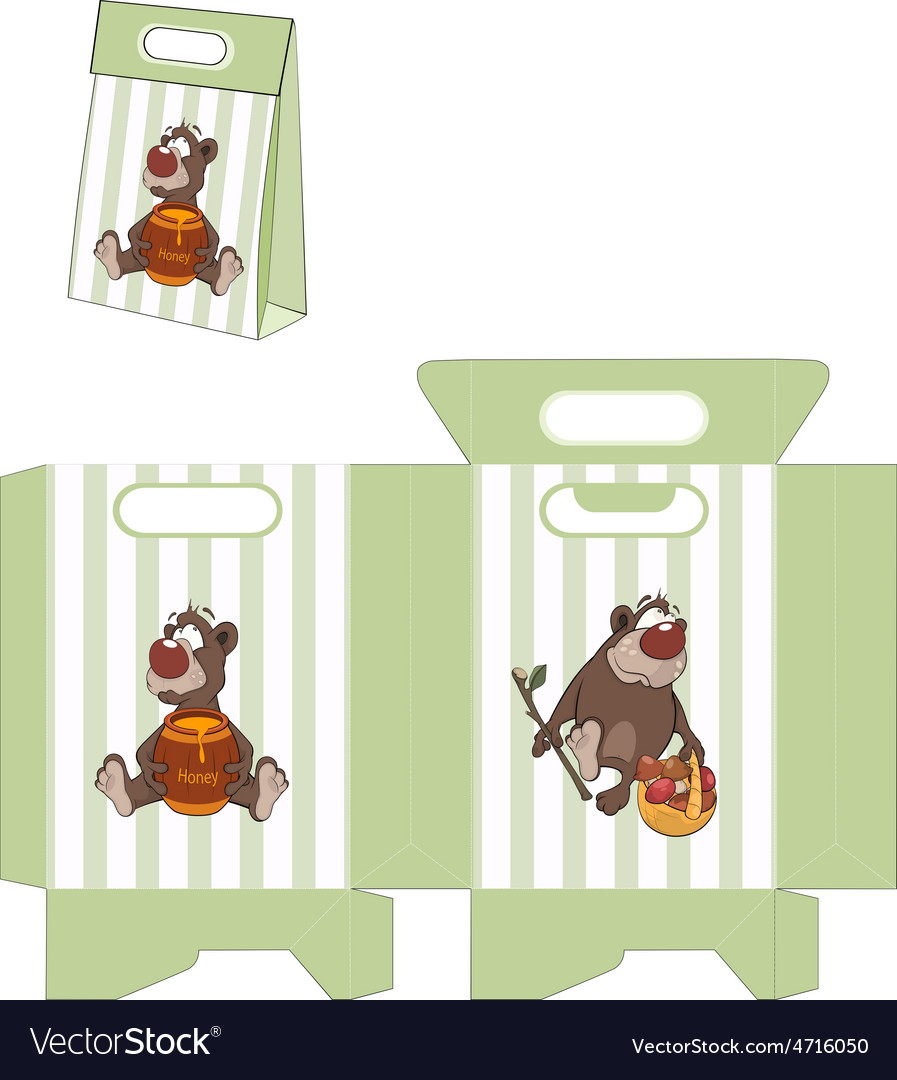 A brown bear packages pattern vector | Price: 1 Credit (USD $1)