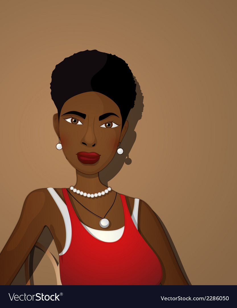 Beautiful black girl vector | Price: 1 Credit (USD $1)