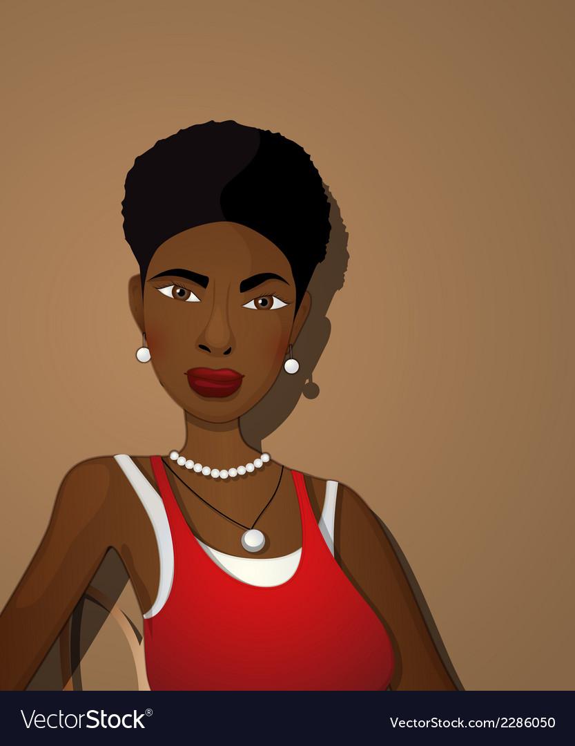 Beautiful black girl vector | Price: 1 Credit (USD $1)