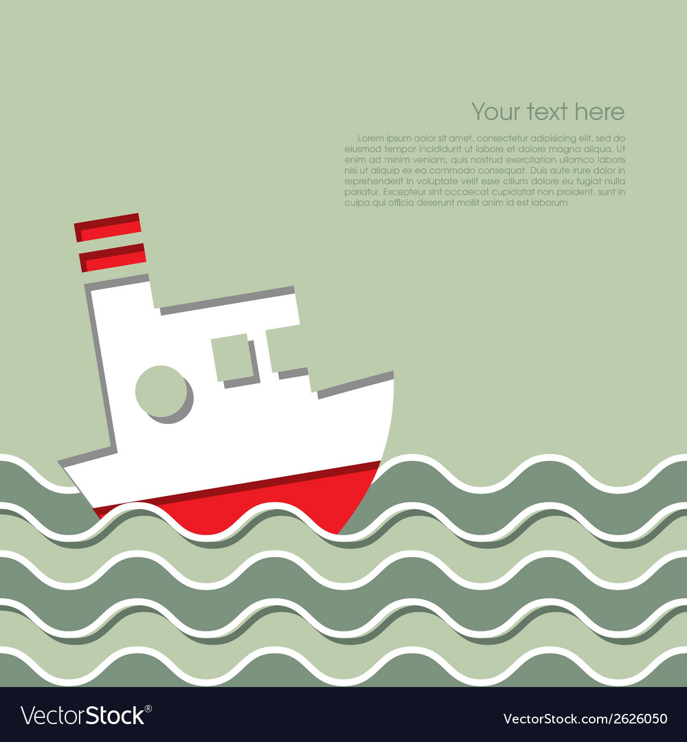 Cruise ship in the ocean vector | Price: 1 Credit (USD $1)