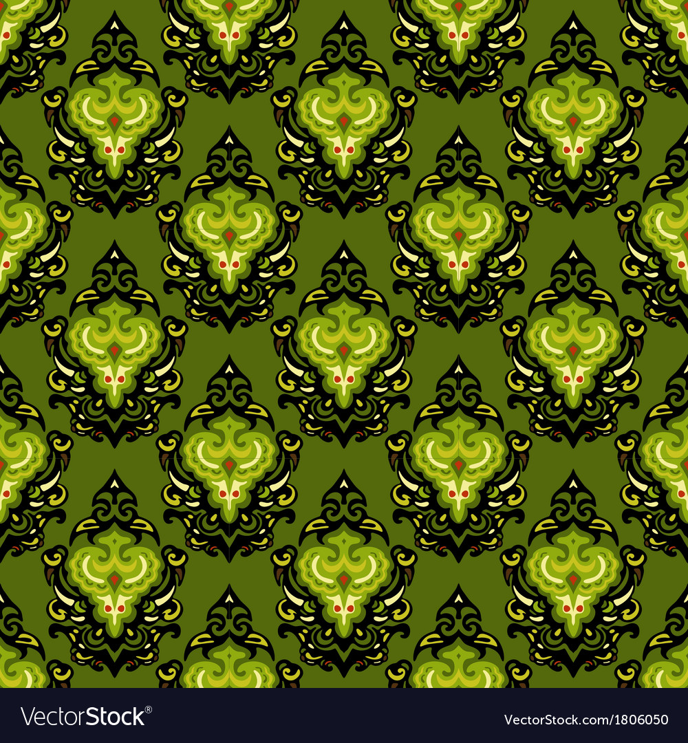 Damask ethnic seamless pattern vector | Price: 1 Credit (USD $1)