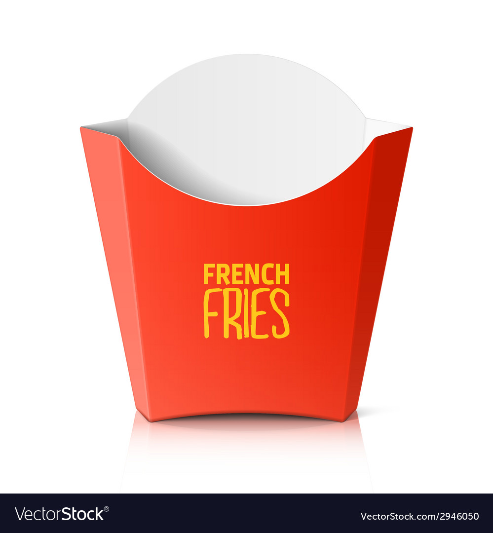 French fries paper box vector | Price: 1 Credit (USD $1)