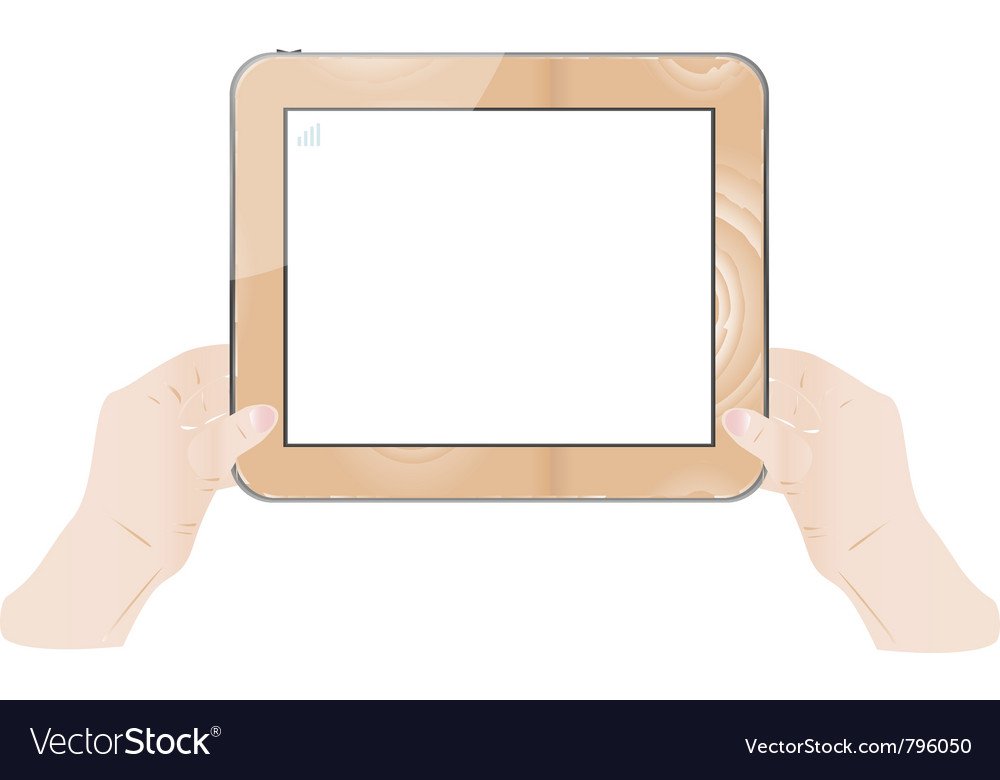 Hand holding wood board vector | Price: 1 Credit (USD $1)