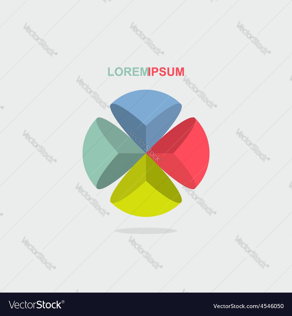 Logo sphere color segment vector   Price: 1 Credit (USD $1)
