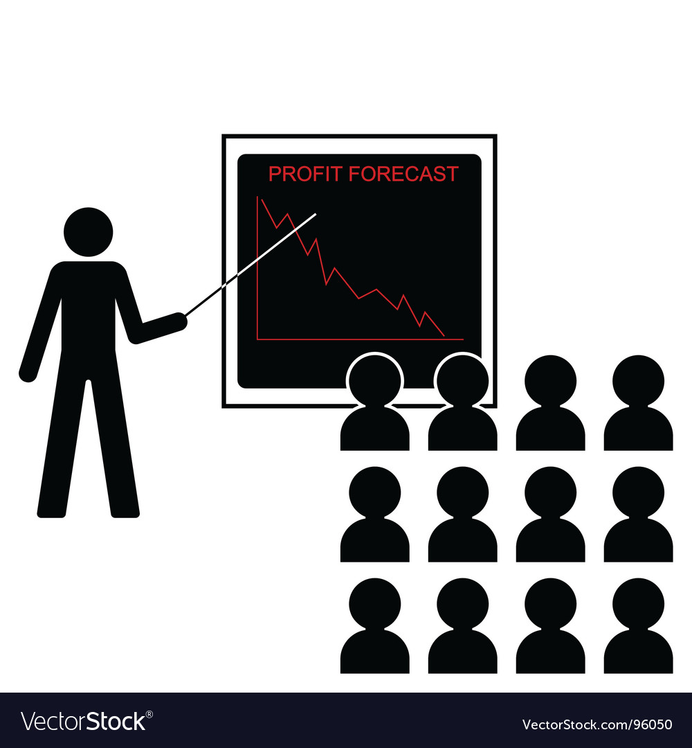 Profit forecast down vector | Price: 1 Credit (USD $1)