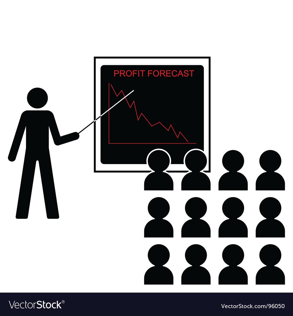 Profit forecast down vector | Price: 1 Credit (USD $1)