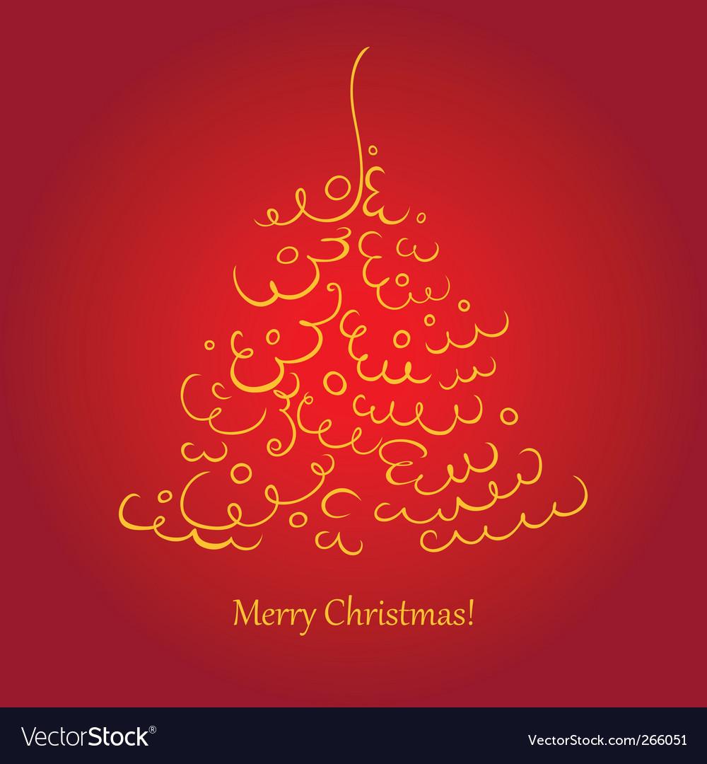 Christmas tree scroll vector   Price: 1 Credit (USD $1)
