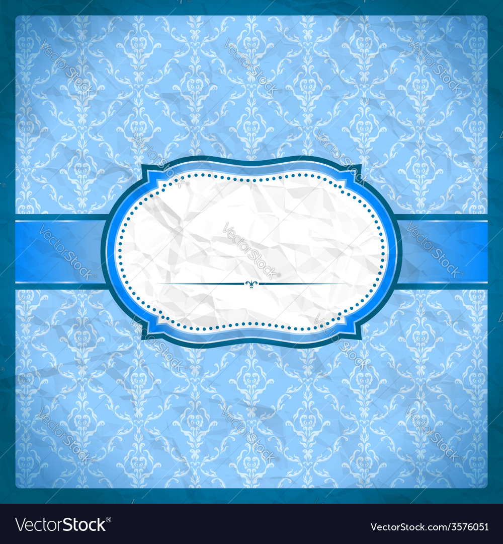Crumpled vintage lace frame vector | Price: 1 Credit (USD $1)