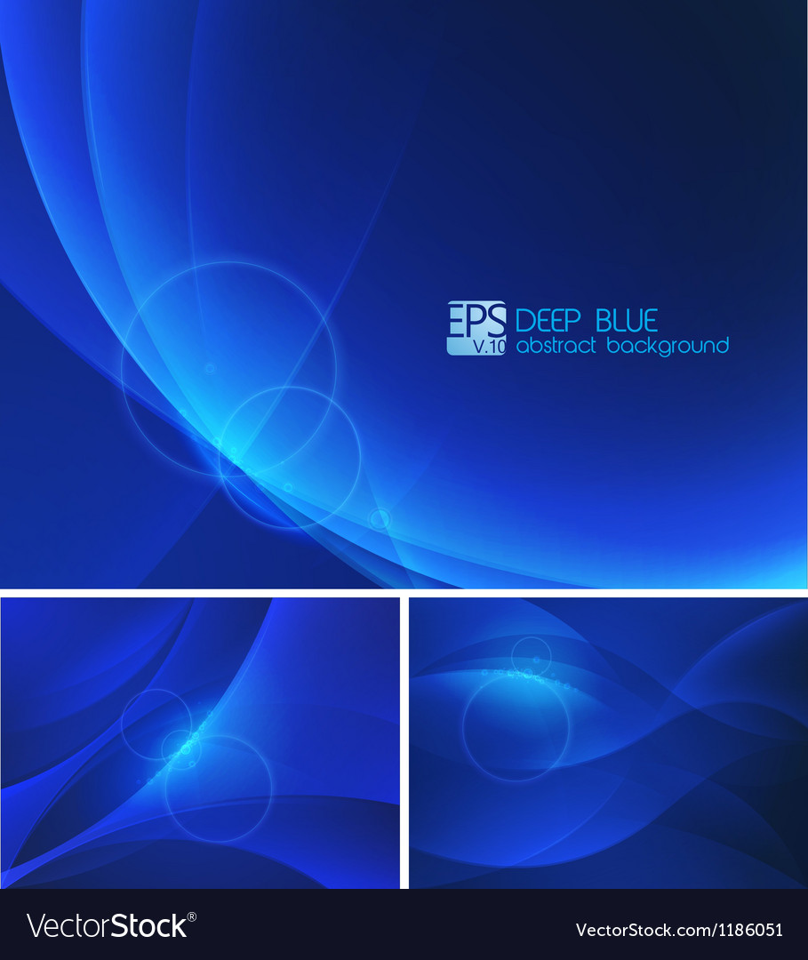 Deep blue abstract background vector | Price: 1 Credit (USD $1)