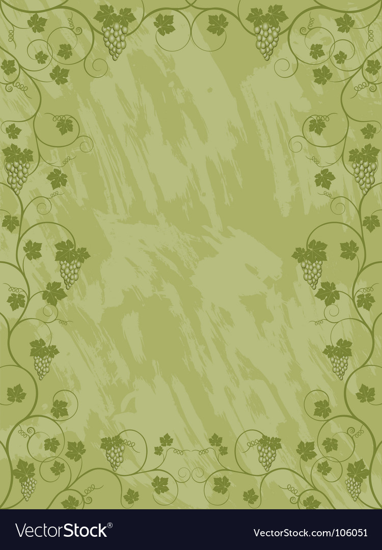 Floral frame with a vine vector | Price: 1 Credit (USD $1)